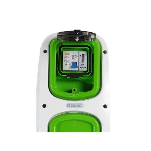 Wallpod inzetstuk aardlekautomaat 2pol B32 / 30mA met KWh me