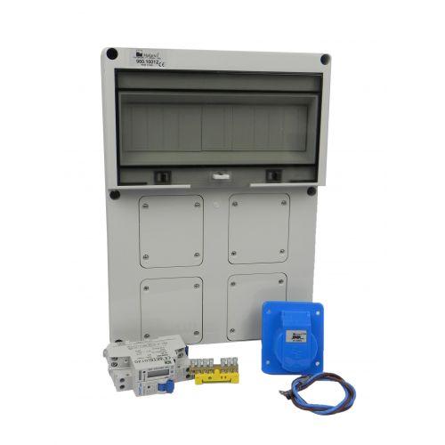 Verteilerkasten Front 1 St. CEE 16A/ 1x kWh Leistungszähler - Bausatz