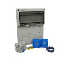 Verteilerkasten Front 2 St. CEE 16A/ 2x kWh Leistungszähler - Bausatz