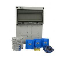 Verteilerkasten Front 3 St. CEE 16A/ 3x kWh Leistungszähler - Bausatz