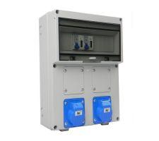 Verteilerkasten Front 1 St. CEE 16A/ 1x kWh Leistungszähler montiert