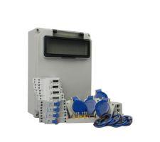 Verteilerkasten Seite 4 St. CEE 16A/ 4x kWh Leistungszähler - Bausatz