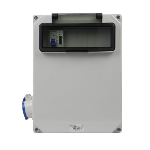 Verteilerkasten Seite 1 St. CEE 16A/ 1x kWh Leistungszähler montiert