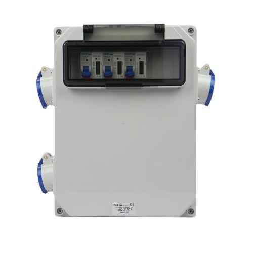 Verteilerkasten Seite 3 St. CEE 16A/ 3x kWh Leistungszähler montiert